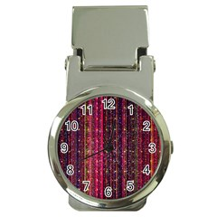 Colorful And Glowing Pixelated Pixel Pattern Money Clip Watches by Jojostore