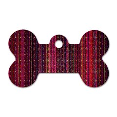 Colorful And Glowing Pixelated Pixel Pattern Dog Tag Bone (two Sides) by Jojostore