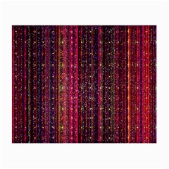 Colorful And Glowing Pixelated Pixel Pattern Small Glasses Cloth (2 Side) by Jojostore
