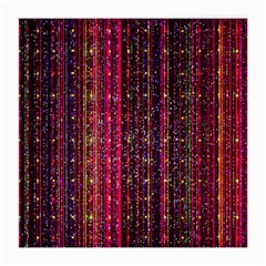 Colorful And Glowing Pixelated Pixel Pattern Medium Glasses Cloth by Jojostore