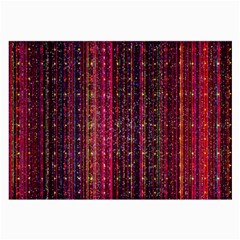Colorful And Glowing Pixelated Pixel Pattern Large Glasses Cloth (2 Side) by Jojostore