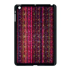 Colorful And Glowing Pixelated Pixel Pattern Apple Ipad Mini Case (black) by Jojostore