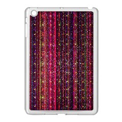 Colorful And Glowing Pixelated Pixel Pattern Apple Ipad Mini Case (white) by Jojostore