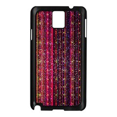 Colorful And Glowing Pixelated Pixel Pattern Samsung Galaxy Note 3 N9005 Case (black) by Jojostore
