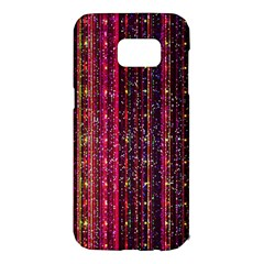 Colorful And Glowing Pixelated Pixel Pattern Samsung Galaxy S7 Edge Hardshell Case by Jojostore