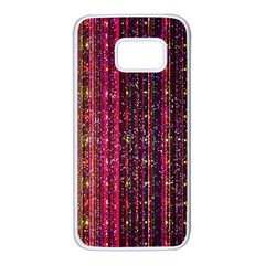 Colorful And Glowing Pixelated Pixel Pattern Samsung Galaxy S7 White Seamless Case