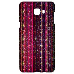 Colorful And Glowing Pixelated Pixel Pattern Samsung C9 Pro Hardshell Case  by Jojostore