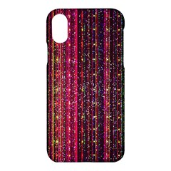 Colorful And Glowing Pixelated Pixel Pattern Apple Iphone X Hardshell Case