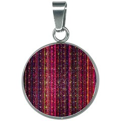 Colorful And Glowing Pixelated Pixel Pattern 20mm Round Necklace by Jojostore