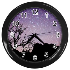 Arches National Park Night Wall Clock (black) by Jojostore