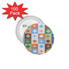 Fabric Textile Textures Cubes 1 75  Buttons (100 Pack)  by Jojostore