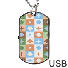 Fabric Textile Textures Cubes Dog Tag Usb Flash (two Sides) by Jojostore