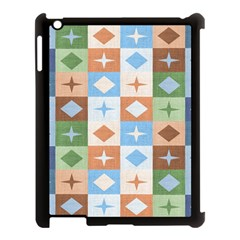 Fabric Textile Textures Cubes Apple Ipad 3/4 Case (black) by Jojostore