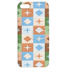 Fabric Textile Textures Cubes Apple Iphone 5 Hardshell Case With Stand