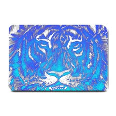 Background Fabric With Tiger Head Pattern Small Doormat  by Jojostore
