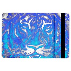 Background Fabric With Tiger Head Pattern Ipad Air 2 Flip by Jojostore