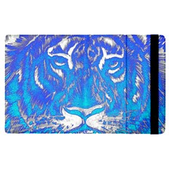 Background Fabric With Tiger Head Pattern Apple Ipad Pro 9 7   Flip Case by Jojostore