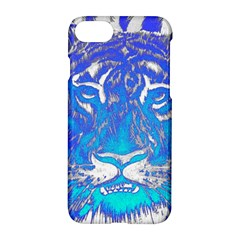Background Fabric With Tiger Head Pattern Apple Iphone 7 Hardshell Case