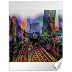 Downtown Chicago Canvas 18  X 24  by Jojostore