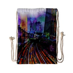 Downtown Chicago Drawstring Bag (small) by Jojostore