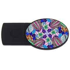 Wallpaper Created From Coloring Book Usb Flash Drive Oval (4 Gb) by Jojostore