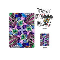 Wallpaper Created From Coloring Book Playing Cards 54 (mini) by Jojostore