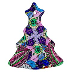 Wallpaper Created From Coloring Book Christmas Tree Ornament (two Sides) by Jojostore