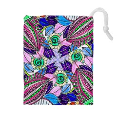 Wallpaper Created From Coloring Book Drawstring Pouch (xl) by Jojostore