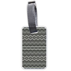 Greyscale Zig Zag Luggage Tags (two Sides) by Jojostore