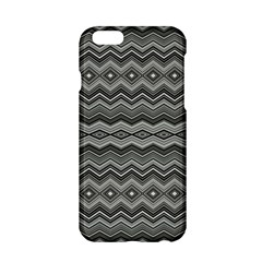 Greyscale Zig Zag Apple Iphone 6/6s Hardshell Case by Jojostore