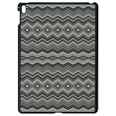 Greyscale Zig Zag Apple Ipad Pro 9 7   Black Seamless Case