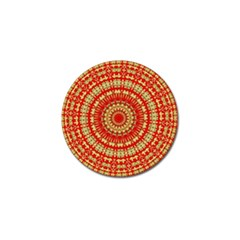 Gold And Red Mandala Golf Ball Marker (4 Pack) by Jojostore