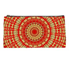 Gold And Red Mandala Pencil Cases