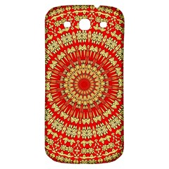 Gold And Red Mandala Samsung Galaxy S3 S Iii Classic Hardshell Back Case by Jojostore