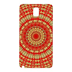Gold And Red Mandala Samsung Galaxy Note 3 N9005 Hardshell Back Case by Jojostore