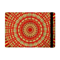 Gold And Red Mandala Ipad Mini 2 Flip Cases