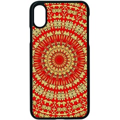 Gold And Red Mandala Apple Iphone X Seamless Case (black)