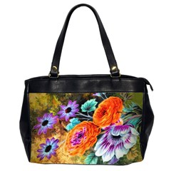 Flowers Artwork Art Digital Art Oversize Office Handbag (2 Sides) by Jojostore