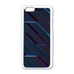 Glass Scifi Violet Ultraviolet Apple Iphone 6/6s White Enamel Case by Sapixe