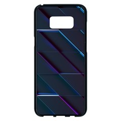 Glass Scifi Violet Ultraviolet Samsung Galaxy S8 Plus Black Seamless Case by Sapixe