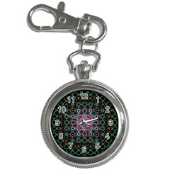 Digital Art Background Colors Key Chain Watches by Sapixe