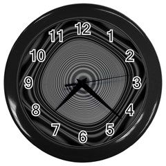 Digital Art Background Black White Wall Clock (black)