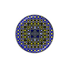 Digital Art Background Yellow Blue Hat Clip Ball Marker (4 Pack)
