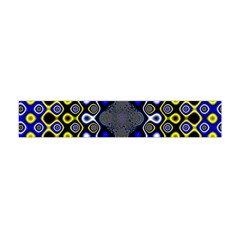 Digital Art Background Yellow Blue Flano Scarf (mini) by Sapixe