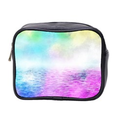 Background Art Abstract Watercolor Mini Toiletries Bag (two Sides) by Sapixe