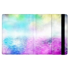 Background Art Abstract Watercolor Apple Ipad 3/4 Flip Case by Sapixe