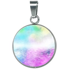 Background Art Abstract Watercolor 20mm Round Necklace by Sapixe