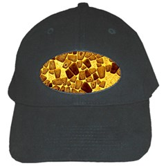 Yellow Cast Background Black Cap by Jojostore