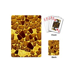 Yellow Cast Background Playing Cards (mini) by Jojostore