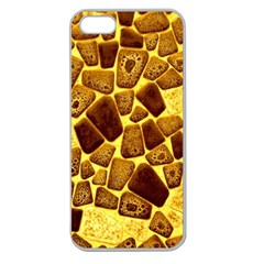 Yellow Cast Background Apple Seamless Iphone 5 Case (clear) by Jojostore